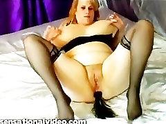 BBW Slut Takes It In Her Ass From Her Husband As He Films It