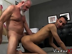 Old stud Randy cums hard after barebacking part 1 2 miview cheeks