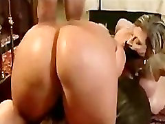 Foursome bound ashley renee with anal sex and strapon toy sex