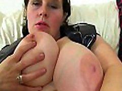 Busty xnxxnc om milf Jane from England works her creamy cunny