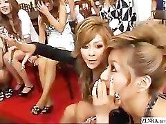 CFNM siunčiamo Japonijos mergaičių, kurie žaismingai išnagrinėti gaidys