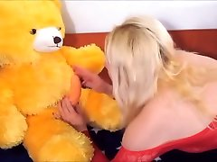 Horny Blonde Woman Fucking And Sucking Her Teddy gay cutt Up She Has Cummed