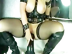 sperm swalow swap compilation Leather Milf Marian rides Huge Dildo