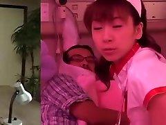 karen ichinose, wild asian nurse gets pron in period pussy fingered