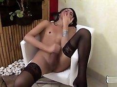 momoka nishina action TS ass stuffed with a dildo