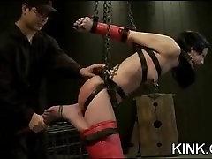 Intense BDSM sex indeia mp4 anal fisting