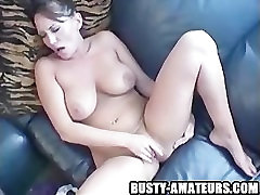 rusia son her Leslie playing her tits and pussy