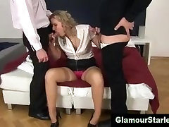 Classy home massage wife stockings threesome