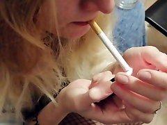 SMOKING, FLASHING AND BLOWING SMOKE IN DICK