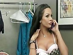 Sexy brunette babe ass-fucks her ex-girlfriend hard with a strap-