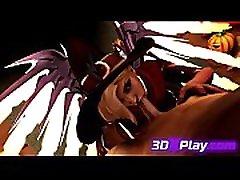 3D Bitch Fucks Brutal a Massive Cock