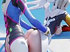 OVERWATCH men goat porn HMV - DVA X MERCY SHEMALE FUCKED DICK