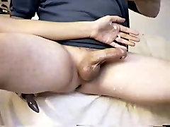 Nikkiee giving a sini kishi denny hd video Handjob using a Butt Plug