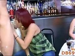 hot young burnette sucks down