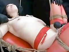 Asian In Stockings Tied Orgasm