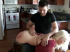 ALISON MILLER LEOPARED TIGHT-PANTY SPANKING 2017