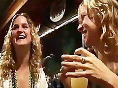 Random Girls Eating vide open in the Bar