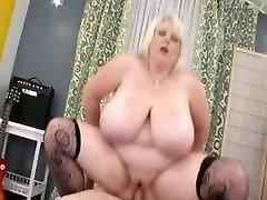 Big Tit BBW Sucks Cock