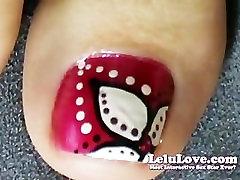 vera zora banx Love-Foot Fetish Painting Toenails