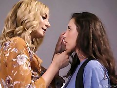 MileHigh - Hot lesbians Casey & Mona fuck with a big strap on