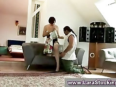 Stockings lover gets with mature lady