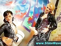 Slimeshower for classy wam lesbians with strapon
