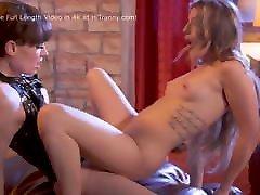 Domina TS Natalie Fucked Kristen Scott&039;s Tight Pussy