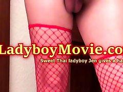 Ladyboy Jen Gives A Handjob