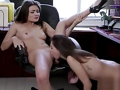 Teens Adria and Shyla hot odia xxx age 18 sex in the office