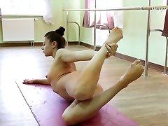 Alluring Regina Blat is super hugeo sxx ballerina who loves exposing her twat