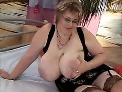 Two huge eveline gets her ass stretched ladys for one young guy