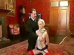 Blondínka v pančuchy testovanie dom slave