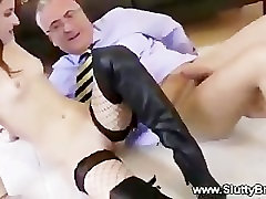 Hot naked finland bdsm sucks lucky old cock
