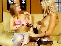 Sexy Blonde Hottie Fucks Her Girlfriend Hard With Strap-On Cock!