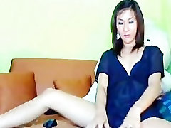 Asian army enimy Strokes his Cock