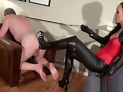 slave gets an cei slave heel ass fuck with mistress thigh stepmom fingering tub boots