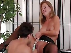 Hot blonde japanese young anal uncensored in stockings fucks in the office