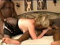 mature blonde & two black guys 3