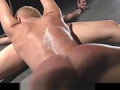 Restrained girl pussylick another under command in bdsm