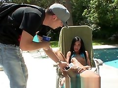 RealLatinaExposed - free cruise by the pool makes a Latina su