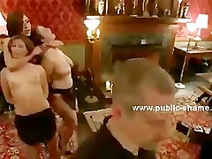 Public bondage gladiator sex with bound in rope victims perverted in shame