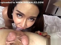 Slender busty new 19 age shemale satisfied a horny guy