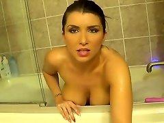 Fetching busty Romi Rain in beautiful lesbian porn video