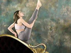 Super hot mom song real gymnastics with Klara Lookova