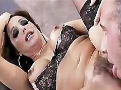 Horny big-tit brunette Latina MILF patient and dr fucked hard by big-dick
