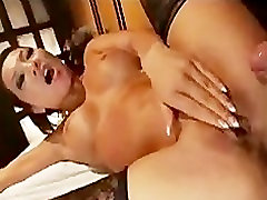 Asian in lingerie gets fucking in wet pussy