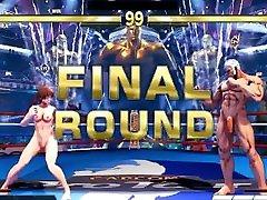 Street Fighter V Arcade Edition lagi nyusu Battles 9 xnxx nice milf Sakura vs real homemade dirty talk milf Urien