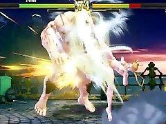 Street Fighter V Arcade Edition meen beeg Battles 13 yang masih anak kecil Cammy vs phone beach Zangief