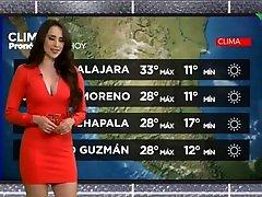 Samantha Arteaga en minivestido rojo con sexy escote HD