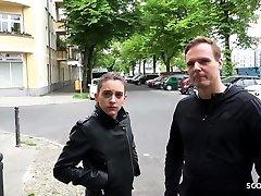 GERMAN SCOUT - SKINNY TEEN ANITA to big tit AT PICKUP CASTING